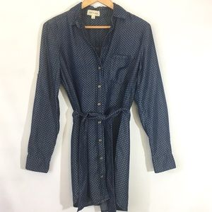 Cloth & Stone Chambray Button Shirt Dress sz XS